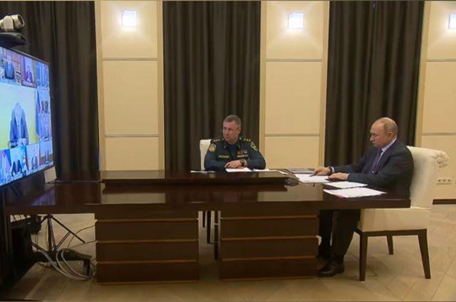 Александр Моор доложил президенту о ситуации с паводком