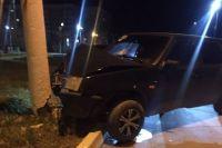 В Гае пьяный водитель повредил опору ЛЭП.