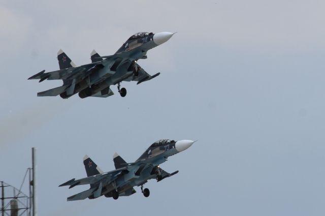В Калининграде прошла репетиция воздушного парада Победы