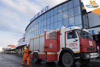 В Тюмени провели полную дезинфекцию аэропорта Рощино