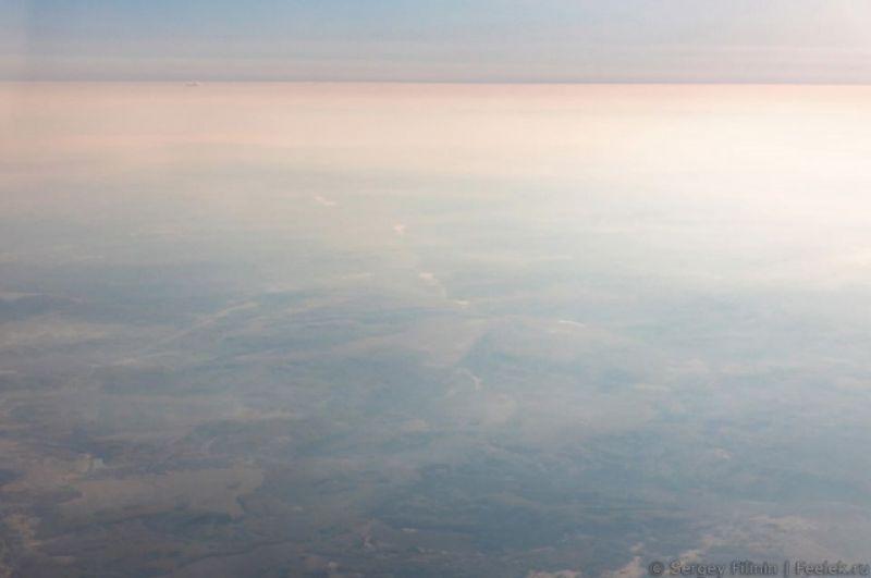 Красноярск из-за дыма не видно.