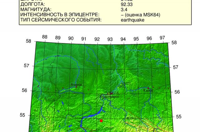 Небольшие землетрясения регулярно фиксируются в Туве и Хакасии.