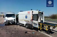 В Киевской области пьяный водитель скорой помощи устроил ДТП