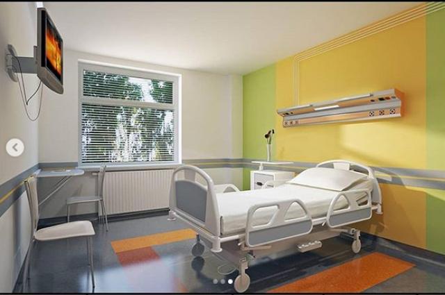 В новой областной детской больнице палаты раскрасят яркими красками.
