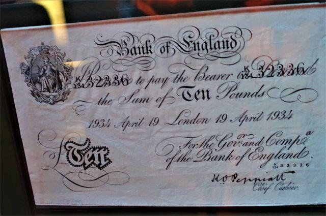 Поддельная банкнота Британского Банка.