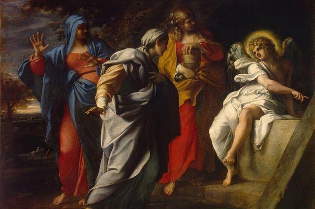 Аннибале Карраччи. Фрагмент картины «Жены-мироносицы у Гроба Господня»