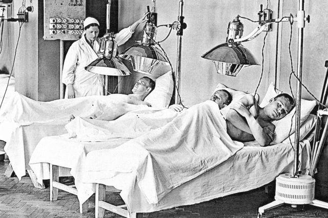 Для скорейшего выздоровления раненых использовались физиопроцедуры.