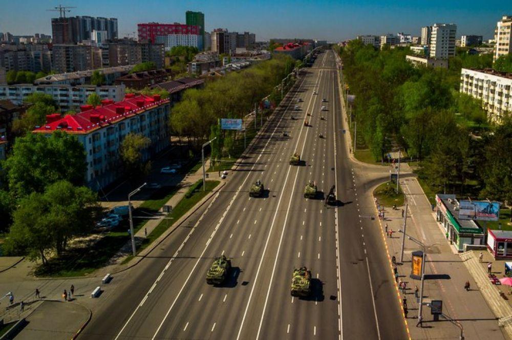 Проезд по проспекту Октября в районе остановки «Спортивная».