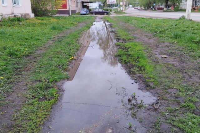 Улица Заводская в Узловой.