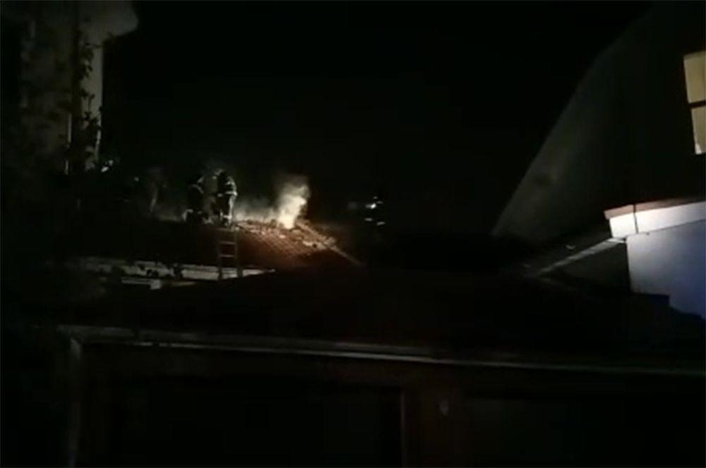Тушение пожара в частном хосписе в Красногорске