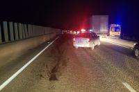 На 58-м километре трассы Пермь-Краснокамск водитель неустановленного автомобиля сбил пешехода, после чего уехал с места ДТП.