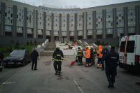 В больнице ранним утром произошел пожар.