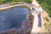 Процесс ликвидации свалки химических отходов «Чёрная дыра» в Дзержинске.