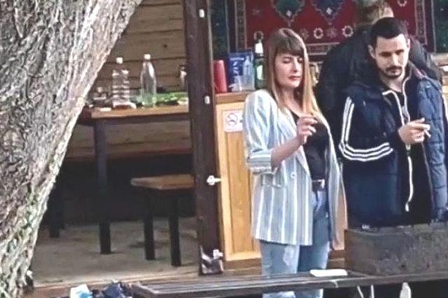 Екатерина Демченко попала на видео, сделанное на турбазе под Новороссийском.
