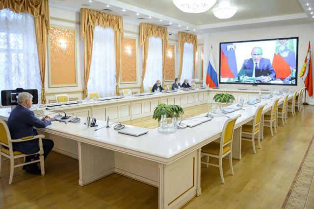 Совещание с президентом прошло в режиме видеоконференции.