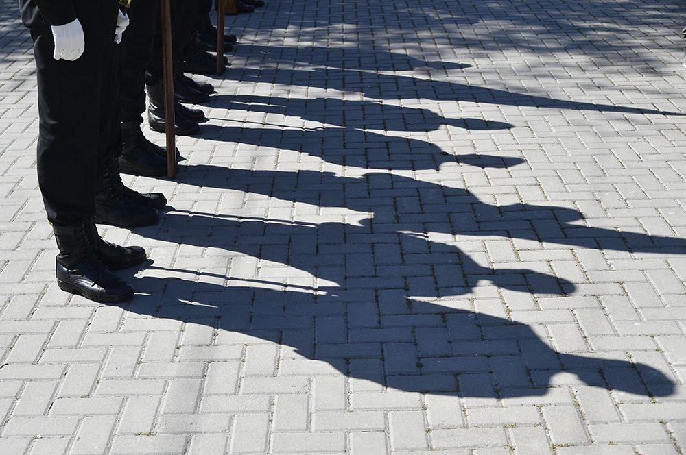 Военнослужащие Черноморского флота во время торжественного празднования 237-летия со дня образования Черноморского флота.