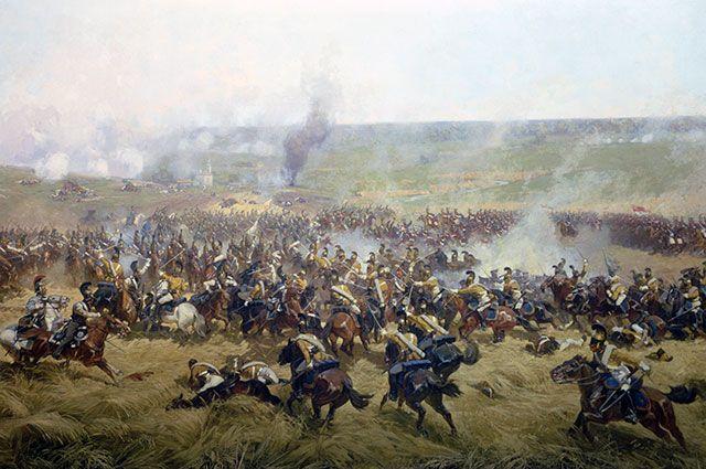 Фрагмент «Бородинской панорамы» Франца Рубо.