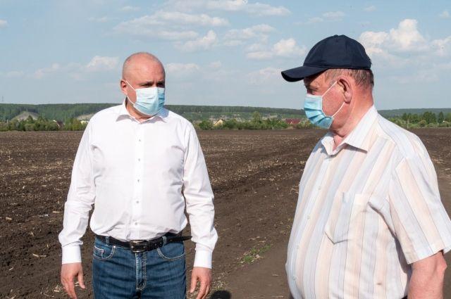 Губернатор посетил сельскохозяйственный производственный кооператив (СПК) «Береговой».