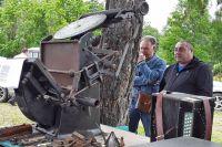 Чудом сохранившийся партизанский печатный станок.