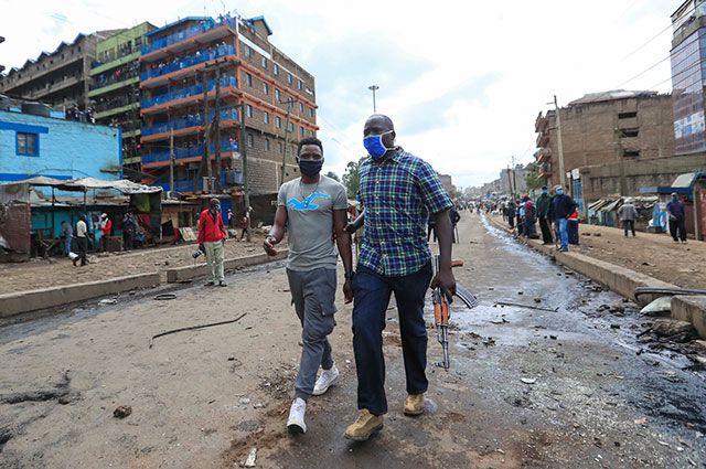 Протесты против ограничительных мер из-за коронавируса в Кении.