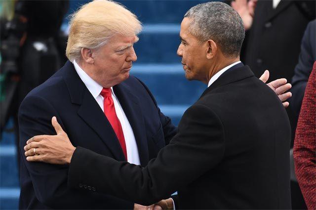 Дональд Трамп, Барак Обама.