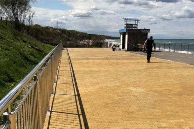 Завершён ремонт променада в посёлке Лесной