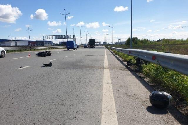 Мотоциклист пострадал в ДТП на Северном обходе