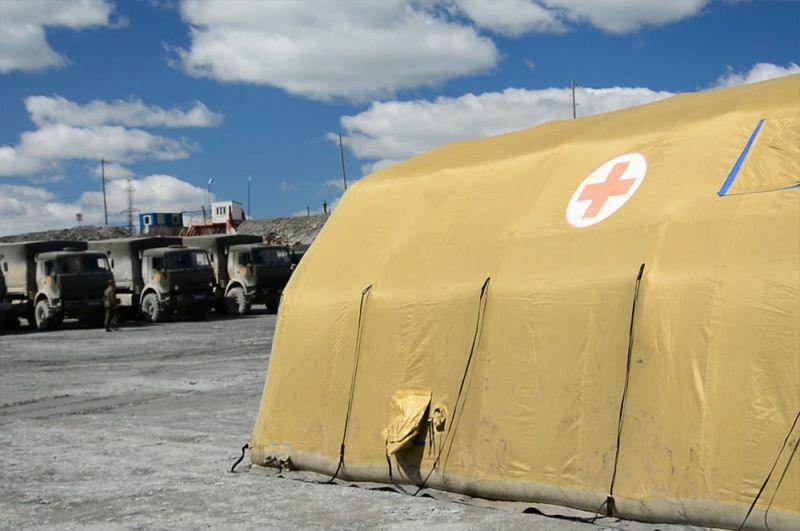 Военнослужащие ЦВО приступили к установке мобильного госпиталя в Красноярском крае.