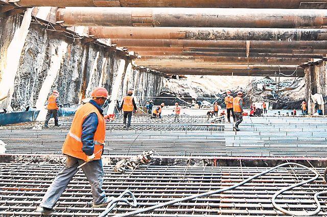 Строительство станции «Кленовый бульвар» БКЛ метро ведётся  с соблюдением всех мер по профилактике коронавируса.