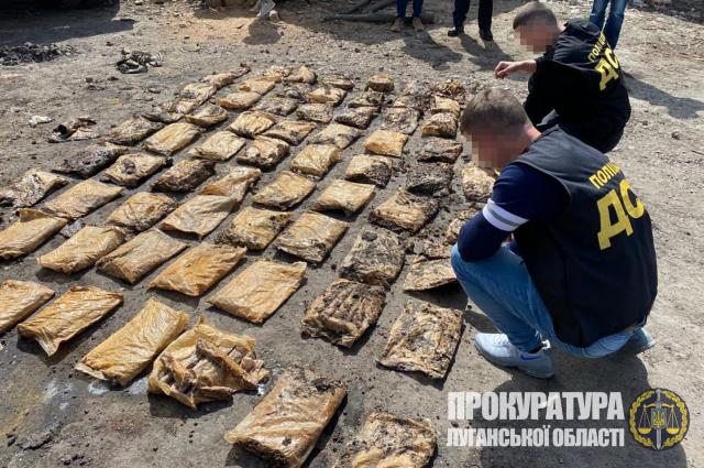 В Луганской области правоохранители обнаружили схрон с 210 кг взрывчатки