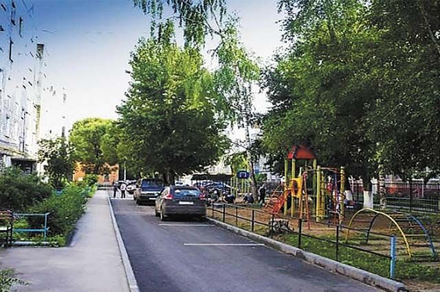 Так выглядит один из дворов на ул. Курчатова после обновления.