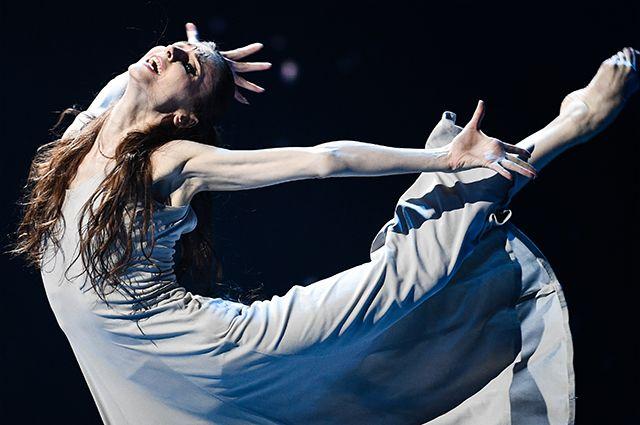 Балерина Светлана Захарова во время благотворительного концерта «Мы вместе» на сцене Большого театра в Москве. Апрель 2020 года.