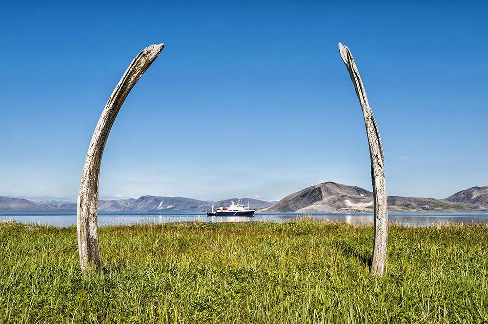 Китовая аллея. На острове Итыгран на Чукотке находится древнее эскимосское святилище. Это два ряда вкопанных в грунт огромных костей и черепов гренландских китов. Считается, что время создания Китовой аллеи приходится на 14 век. Ученые склоняются к тому, что у аллеи было культовое, а не бытовое назначение.