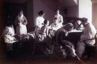 Приёмный покой в Обуховской больнице, Санкт-Петербург, 1887 год.