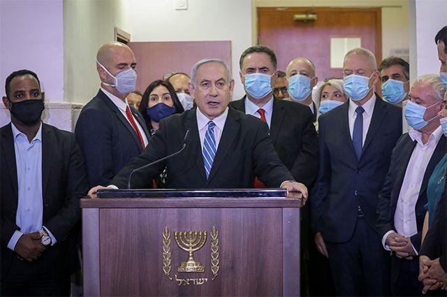Биньямин Нетаньяху в суде. 24 мая 2020 г.