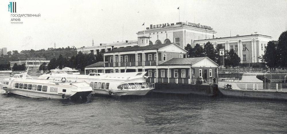 Панорама Речного вокзала. 1980-1990-е годы.