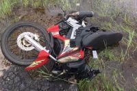 В тюменском селе подростки на мотоцикле попали в ДТП