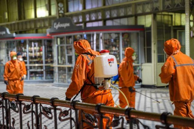 В Калининграде дезинфицируют железнодорожные вокзалы и станции
