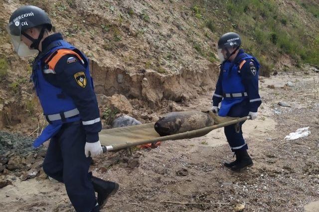 На побережье Калининградского залива обезврежена 100-килограмовая авиабомба