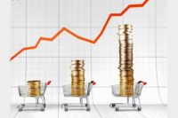 Основная причина - повышение цен на продукты и остабление курса рубля.
