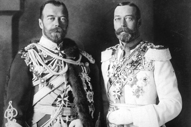 Николай II и Георг V.