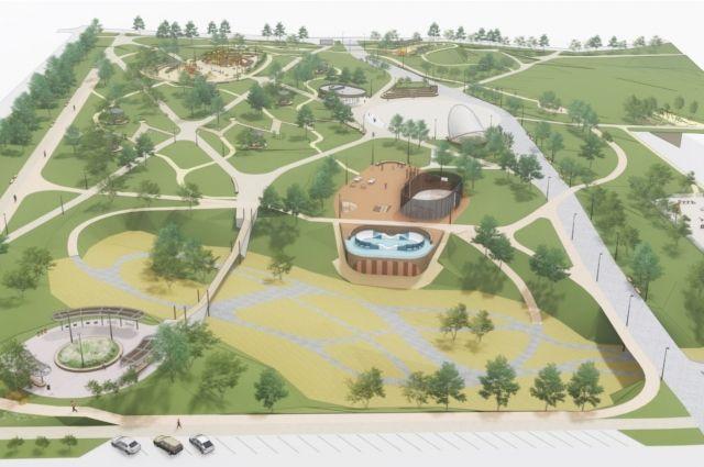 Новый парк «Солнечный» на территории общей площадью 7,4 га должен появиться на пустыре между проспектом 60 лет Образования СССР, улицей Микуцкого и проспектом Молодежный.