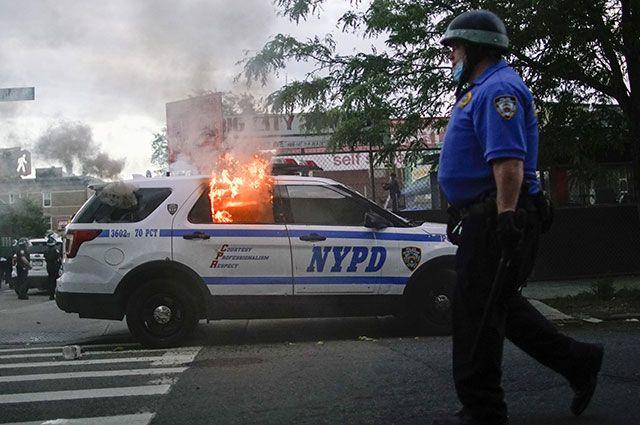Протесты в Нью-Йорке.