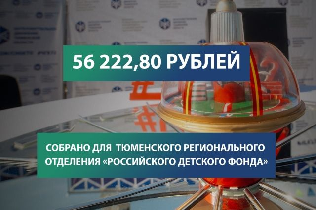 Благотворители собрали более 56 тысяч рублей на помощь детям
