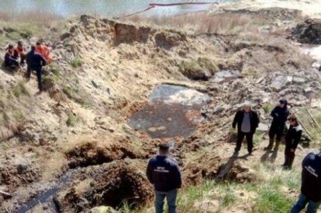Нефтяная линза в Усолье-Сибирском.