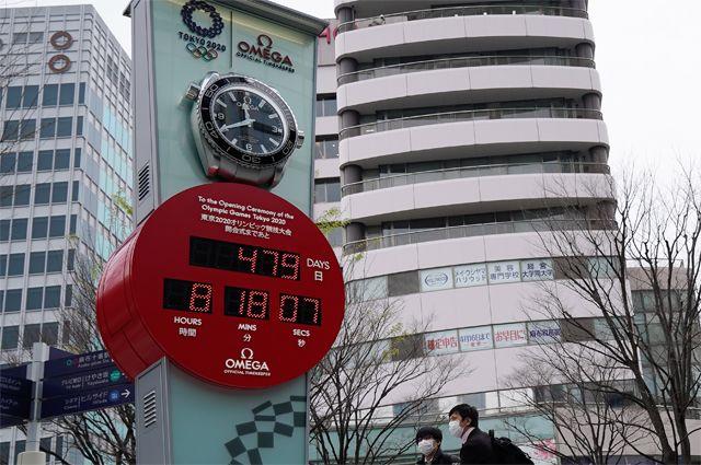 В Токио начался новый обратный отсчет времени дни до начала Олимпийских игр, перенесенных на июль 2021 года.