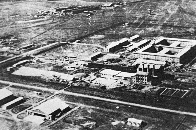 Территория, где работал «отряд 731». Репродукция фотографии из документальной книги японского писателя Сэйити Моримуры «Кухня дьявола».