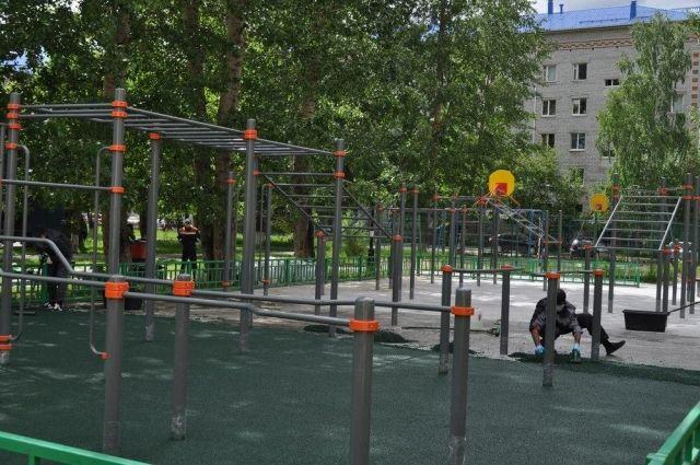 В поселке Боровский обустраивают площадку для занятий адаптивным спортом