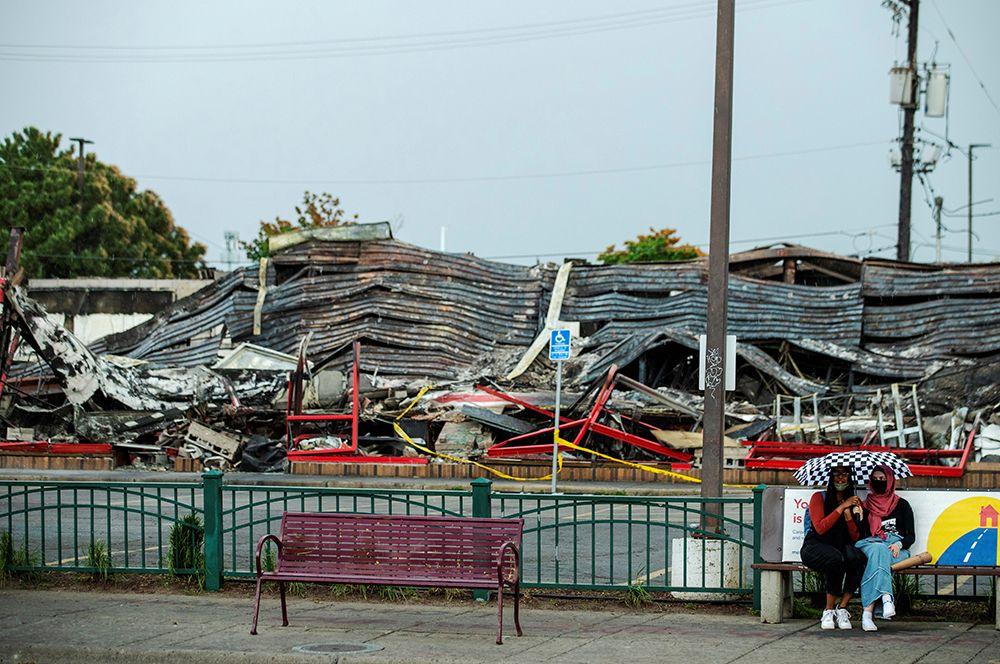 Руины здания в Миннеаполисе.