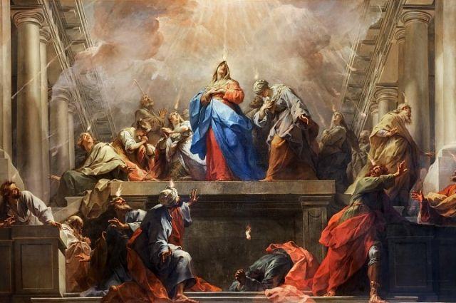 Жан Ресту. «Сошествие Святого Духа на апостолов».